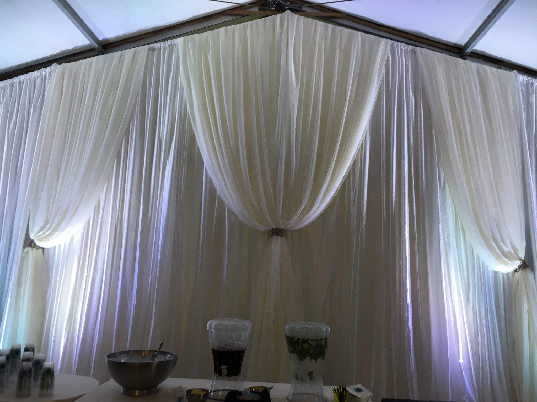 knoxville wedding decor | fabric draping | wedding themes | above