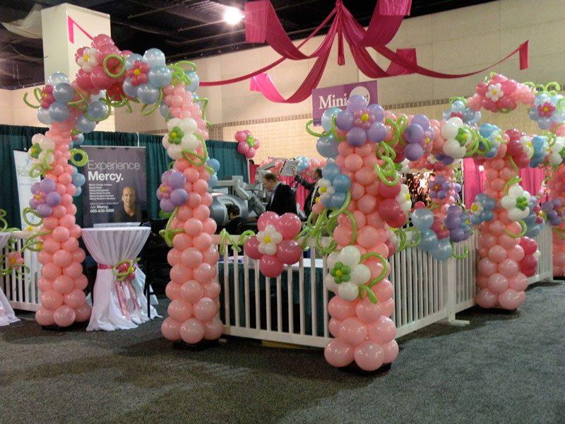 Wedding Photo Booth Decoration Balloon Column Knoxville Balloon Column Entrance Column Above