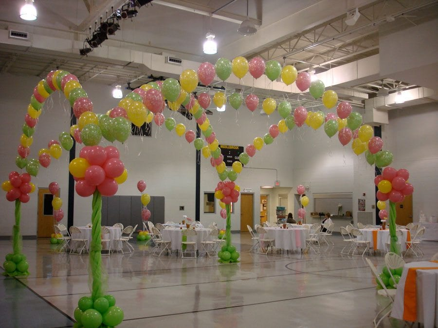 Knoxville wedding decor fabric draping wedding themes for Balloon dance floor decoration